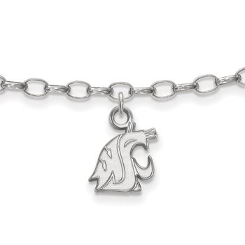 Sterling Silver Washington State University NCAA Bracelet