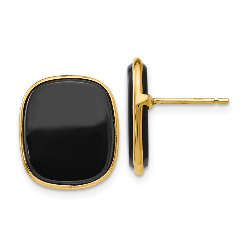 Quality Gold 14k Black Onyx Earrings