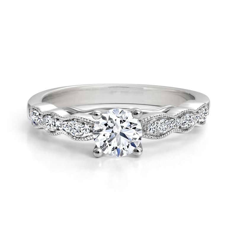 Engagement Ring with Diamond Details