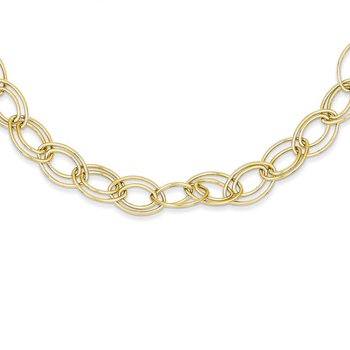 14K Adjustable Oval Link Necklace