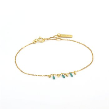 Dotted Triple Drop Bracelet