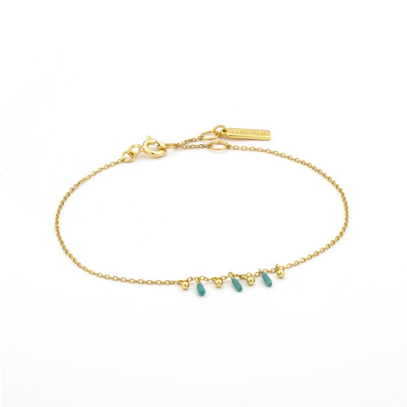 Ania Haie Dotted Triple Drop Bracelet