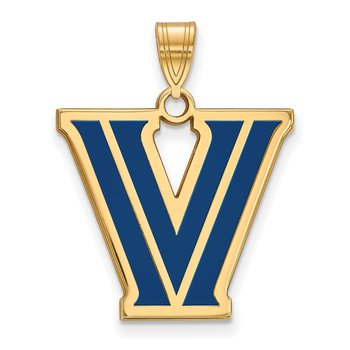 Gold-Plated Sterling Silver Villanova University NCAA Pendant