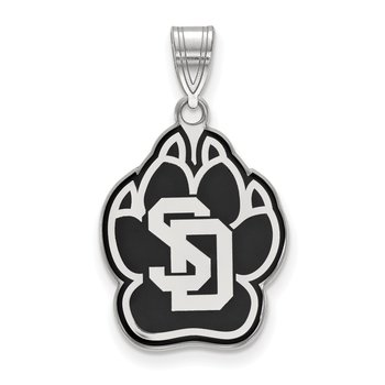 Sterling Silver University of South Dakota NCAA Pendant