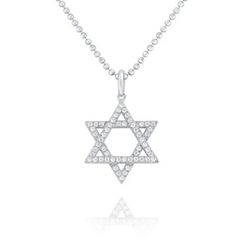 14K Gold and Diamond Star of David