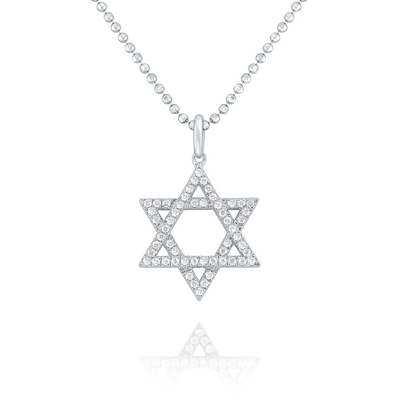 KC Designs 14K Gold and Diamond Star of David