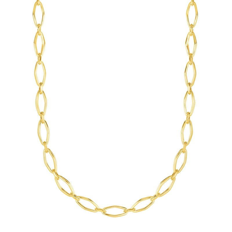 Royal Chain 14K Yellow Gold Polished Marquise Link Chain