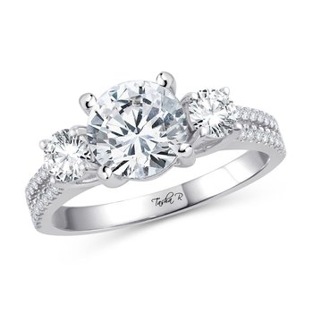 14K 0.68Ct Diam Semi Mount