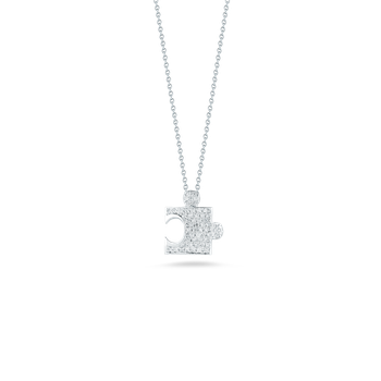 18KT GOLD PUZZLE PIECE PENDANT WITH DIAMONDS
