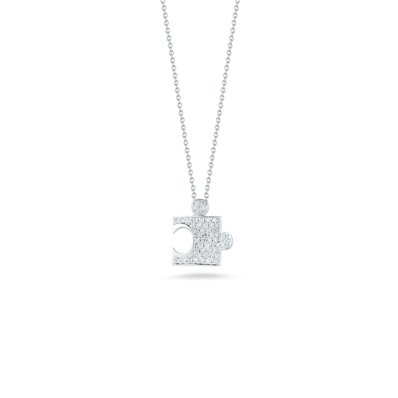Roberto Coin 18Kt Gold Puzzle Piece Pendant With Diamonds