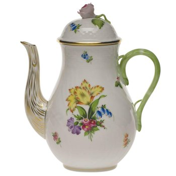Coffee Pot W/Rose