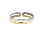 Roberto Coin 18KT YELLOW AND WHITE 2 ROW DIAMOND BANGLE