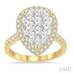 Gemstone Collection pear shape lovebright bridal diamond engagement ring