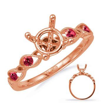 Rose Gold Engagement Ring with Ruby