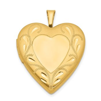 1/20 Gold Filled 2-Frame 19mm Heart Locket