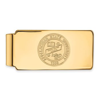 Gold-Plated Sterling Silver Appalachian State University NCAA Money Clip