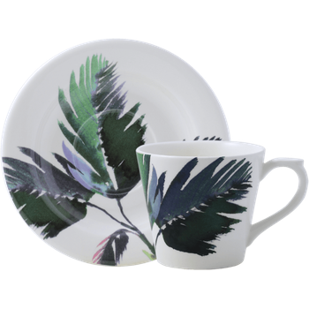 Vegetal Tea Cup and Saucer