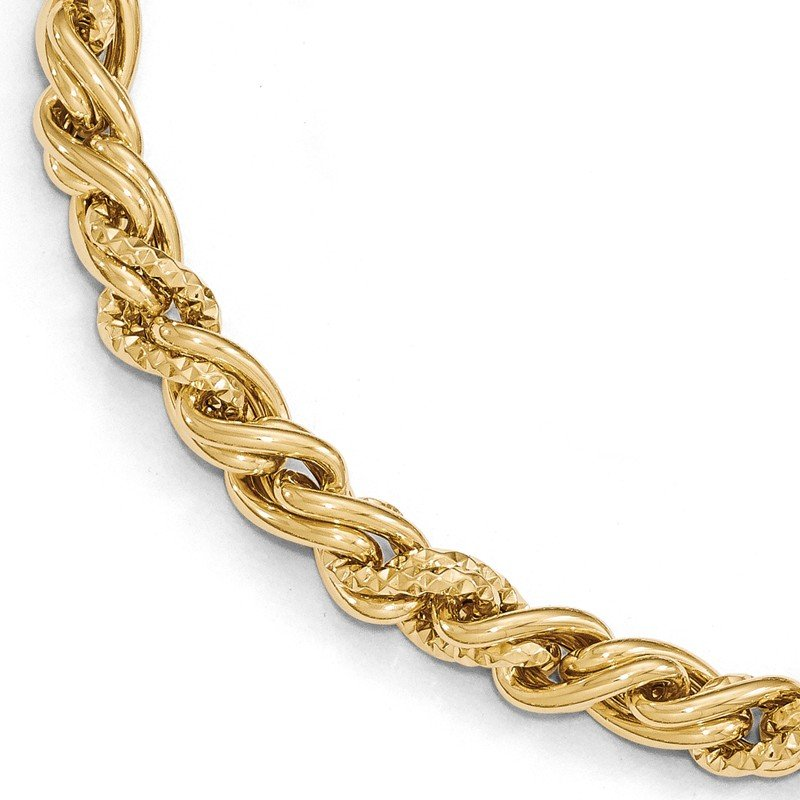 Leslie's Leslie's 14K Polished D/C Twisted w/1in ext. Bracelet