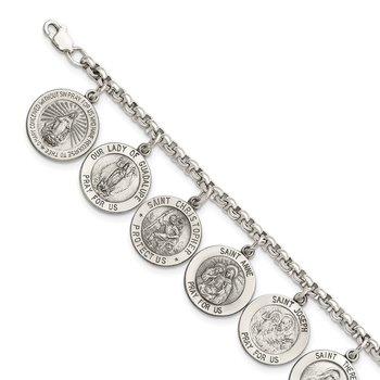 Sterling Silver 12 Saints Bracelet