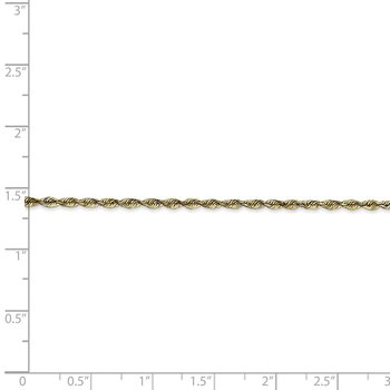 10k 2.0mm Extra-Light D/C Rope Chain Anklet