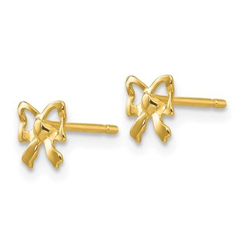 14k Polished Bow Post Earrings