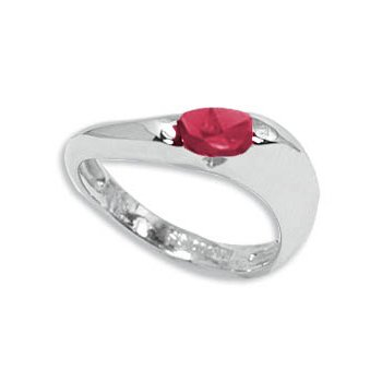 Ruby in Sterling Silver