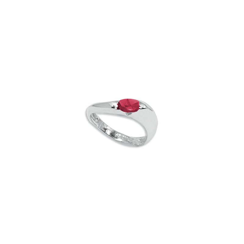 Carla Ruby in Sterling Silver