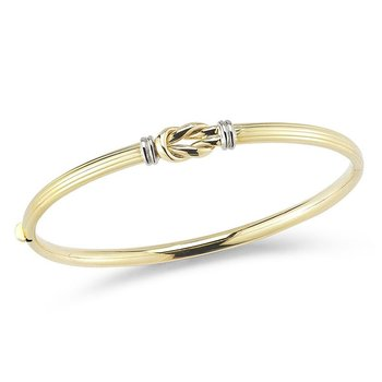 18Kt Gold Knot Bangle