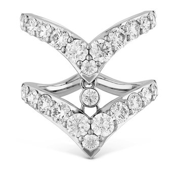 2.65 ctw. Triplicity Double Pointed Ring