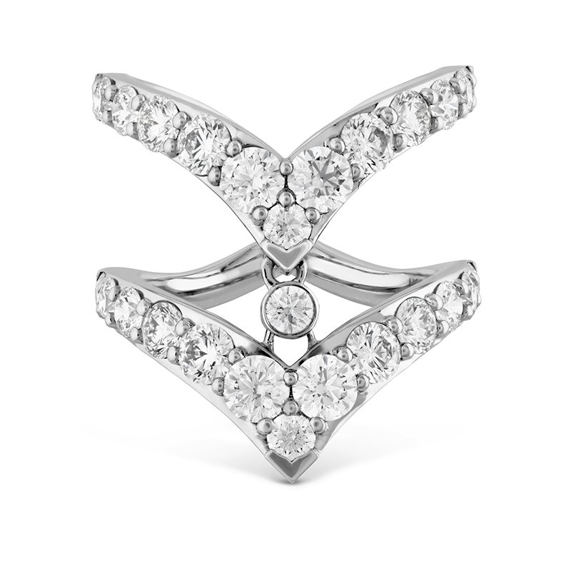 Hearts on Fire 2.65 ctw. Triplicity Double Pointed Ring