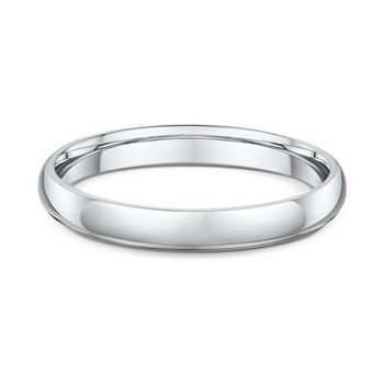 3mm High Dome Wedding Band