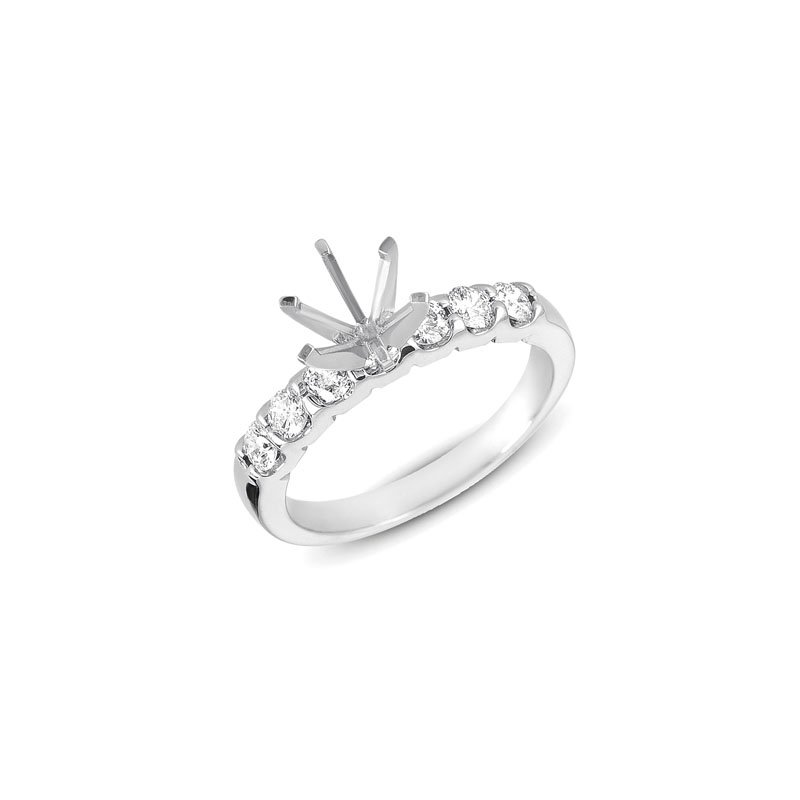 S. Kashi  & Sons White Gold Shared Prong Semi