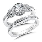 Valina Halo Engagement Ring Mounting in 14K White Gold (.20 ct. tw.)