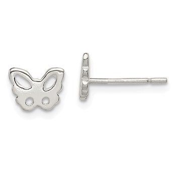 Sterling Silver Butterfly Post Earrings