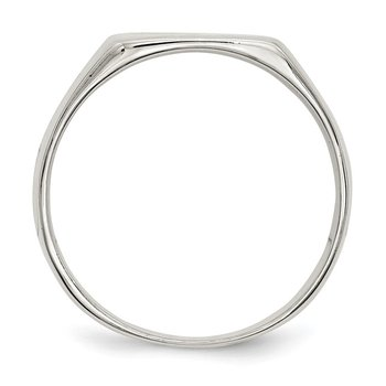 Sterling Silver 11x12mm Closed Back Signet Ring