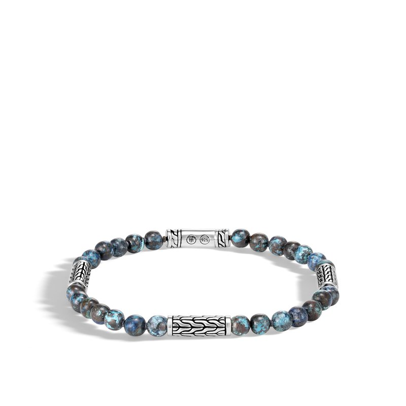 JOHN HARDY Classic Chain Bead Bracelet in Silver with 5MM Gemstone