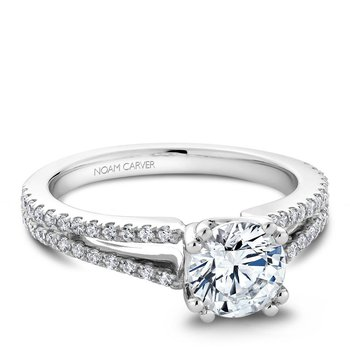 Noam Carver Modern Engagement Ring B001-03A