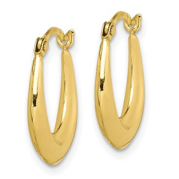 10K Hollow Hoop Earrings