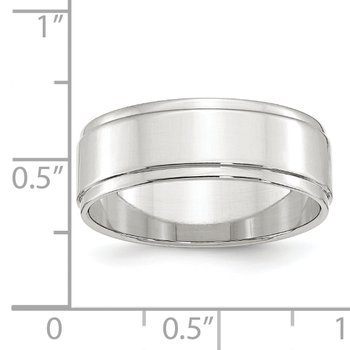 SS 7mm Flat w/ Step Edge Size 10 Band