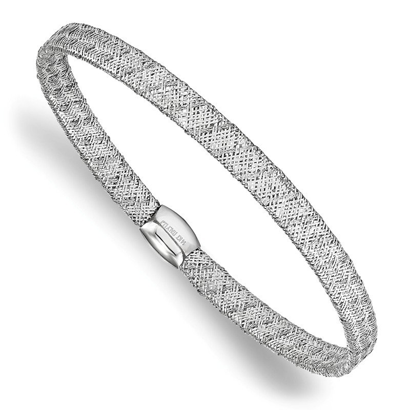Leslie's Leslie's 14K White Gold Fancy Stretch Bangle Bracelet