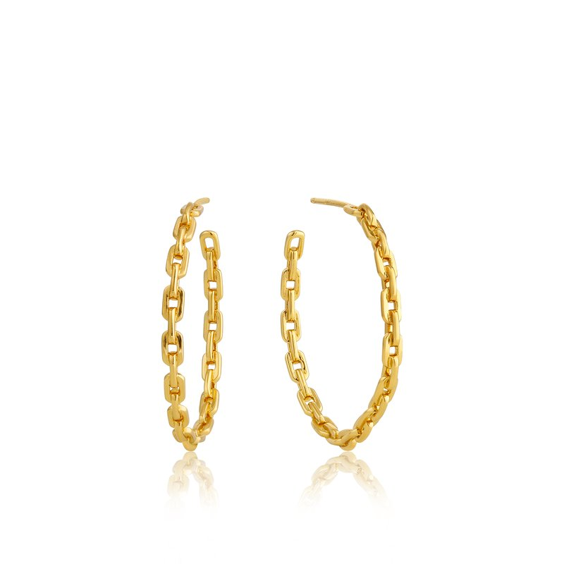 Ania Haie Chain Hoop Earrings