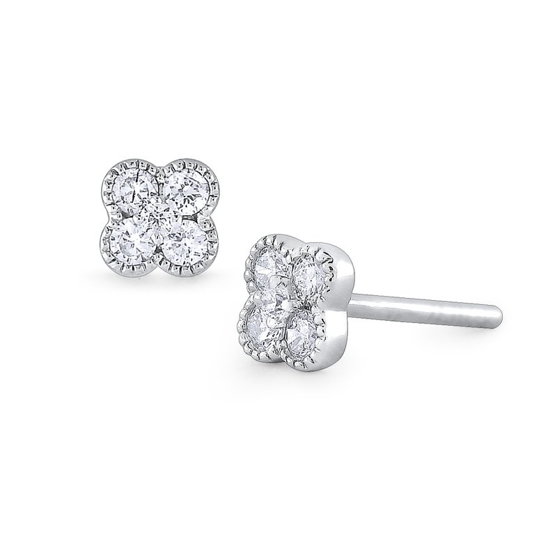 KC Designs 14K Gold and Diamond Flower Earring