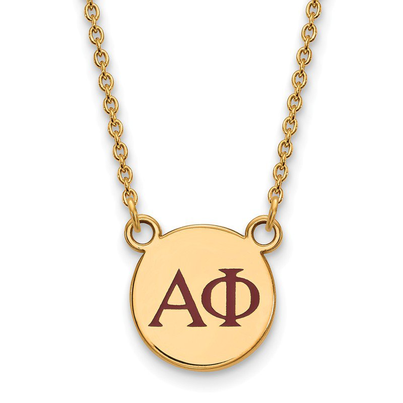 Greek Life Gold-Plated Sterling Silver Alpha Phi Greek Life Necklace