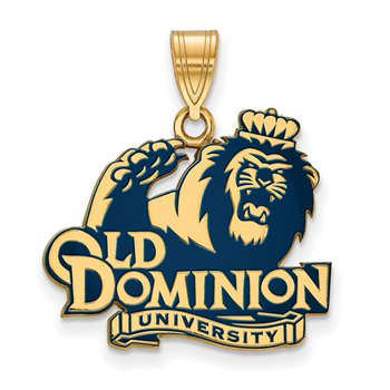 Gold-Plated Sterling Silver Old Dominion University NCAA Pendant