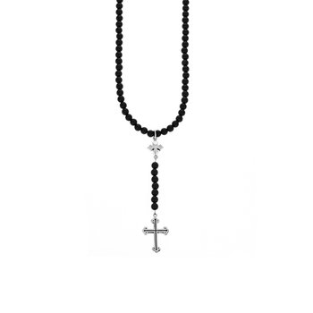 6Mm Beaded Rosary With Mb And Traditional Cross