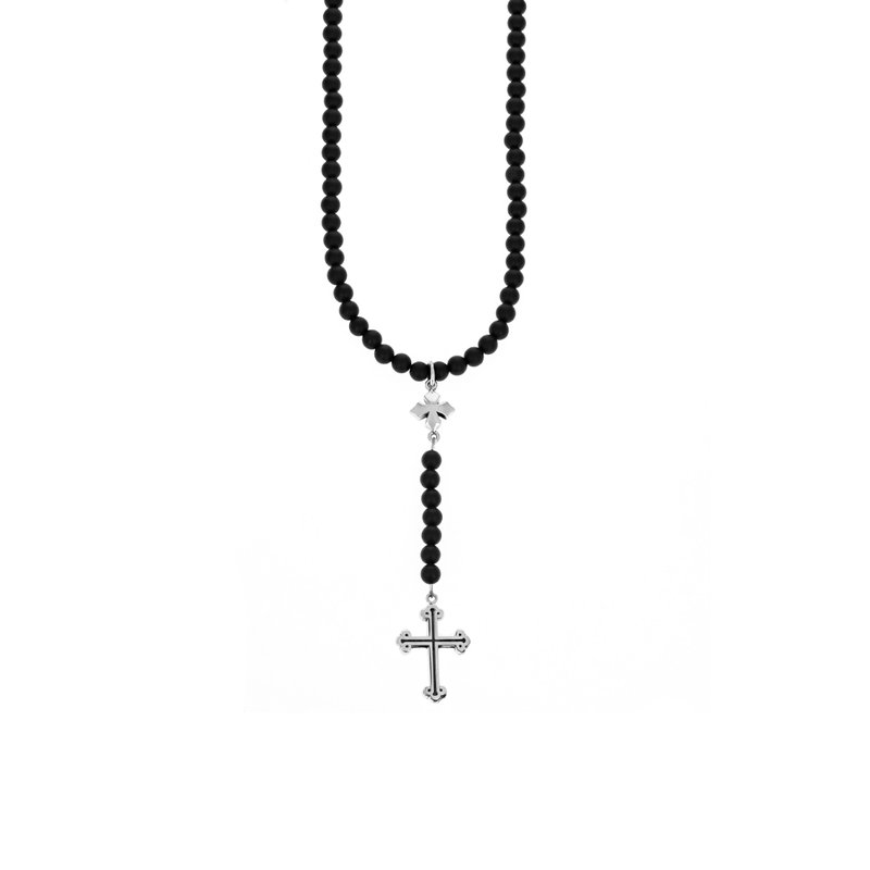 King Baby 6Mm Beaded Rosary With Mb And Traditional Cross