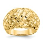 Lester Martin Online Collection 14k Diamond-Cut Dome Ring