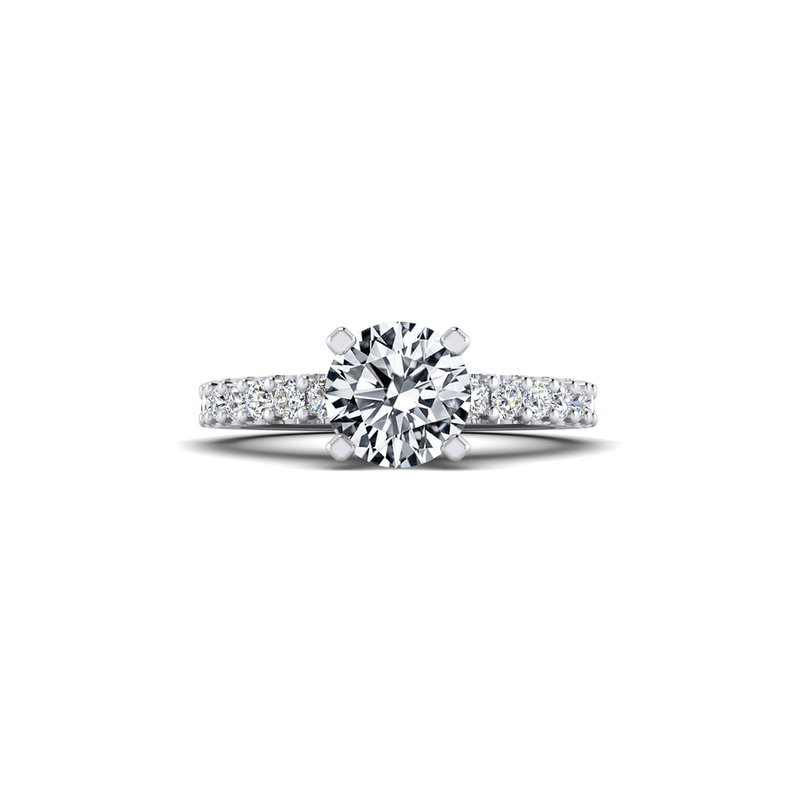 Toodie's Bridal Straight Cathedral Style Diamond Engagement Ring