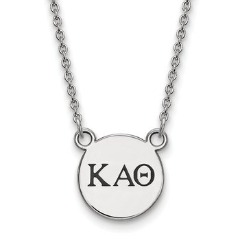 Sterling Silver Kappa Alpha Theta Greek Life Necklace