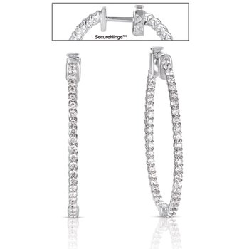 1.50  Securehinge Hoop Earring